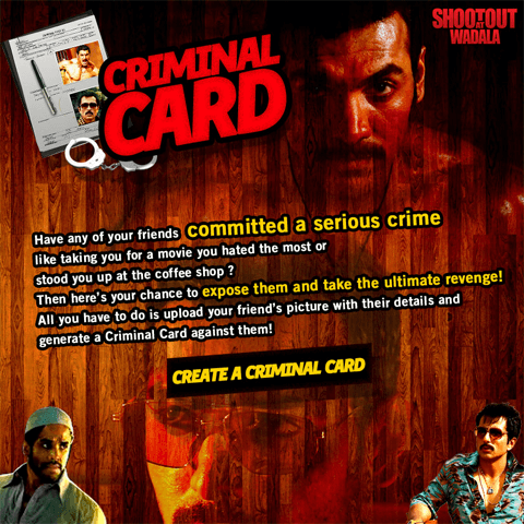 Shootout At Wadala-Criminal Card