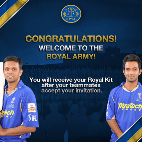 Rajasthan Royals-Congratulations